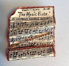Magic Flute Mozart Opera Sheet Music Handcrafted Pin Brooch LE 5/25 Signed 1992