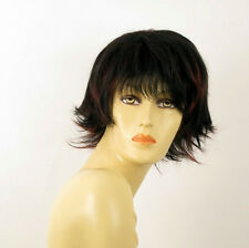 wig for women 100% natural hair black and red wick ref  OLIVIA 1b410 PERUK
