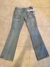 WOMENS 7 FOR ALL MANKIND THE GREAT CHINA WALL JEAN RHINESTONE WAIST 28 LENGTH 32