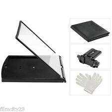 Teleprompter works with Ipad Android iPhone Tablet Prompter Beam Splitter Glass