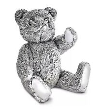 UK Hallmarked Sterling Silver Harrison Brothers Teddy Bear Sculpture 92