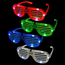 Shutter louver LED Flashing Light Up Glasses Slotted Shutter Shades Hot