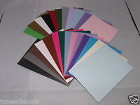 A6 or A5 SIZE ASSORTED PRE-SCORED CARD BLANKS WITH ENVELOPES U choose FREE p/p