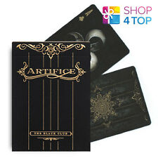 ELLUSIONIST ARTIFICE GOLD BLACK PLAYING CARDS DECK MAGIC TRICKS RARE LIMITED NEW
