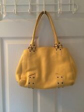 COLE HAAN VILLAGE SPORT PALE YELLOW LEATHER HANDBAG