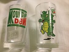 2 JAPAN  MT. DEW GLASS OKINAWA  MOUNTAIN DEW JAPANESE