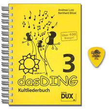 Das Ding 3 Kultliederbuch - mit Dunlop Plek - Dux Verlag - D88 - 9783868490886