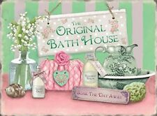 THE ORIGINAL BATH HOUSE - BATHROOM TOILET METAL PLAQUE TIN SIGN SHABBY CHIC 102