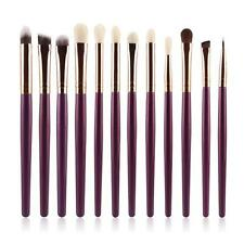 12Pcs Cosmetic Brush Makeup Brush Sets Kits Tools Purple