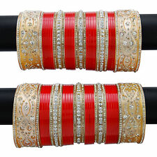 Designer Choora Bangle Charming CZ Chura Kada Set Inidan Bridal Wedding Jewelry