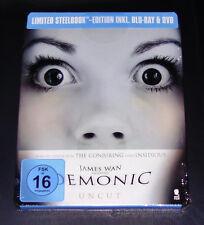 DEMONIC HAUS DES HORRORS LIMITIERTE STEELBOOK EDITION BLU RAY + DVD NEU & OVP