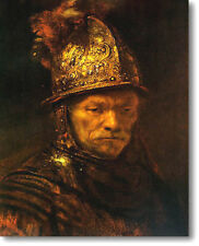 """Rembrandt THE MAN with the GOLDEN HELMET Stretched Canvas Giclee Repro 36"""" x 24"""""""