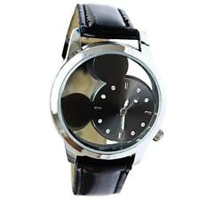 Mickey Mouse Women Watch Transparent Hollow Dial Leather Watch Choice of Colour