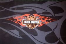 Harley Davidson Shield and Flames fabric for Flag/Throw etc.Misprint