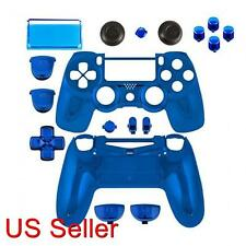 PS4 Repair Part Full Housing Shell Case Chrome BLUE PlayStation 4 Game Bully
