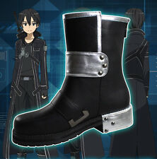 Men Sword Art Online Kazuto Kirigaya Kirito Cosplay Costume Shoes Boots UK3.5-10