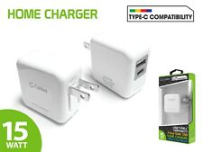 3 Amp 15W USB Type-A and USB Reversible Type-C Dual Port Home Charger for LG G5