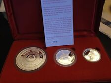 2003 Kookaburra 3-Coin Proof Set - 10oz,2oz,1oz - COA #007