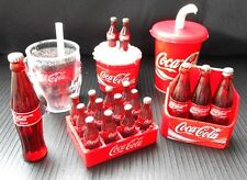LOT OF 6 PCS COKE COCA COLA DOLLHOUSE MINIATURE 3D FRIDGE MAGNET BOTTLES COLLECT