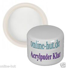 50ml Acryl Luxus Puder / Pulver, Acryl Powder, Klar, Clear, mit Gilbstop, 50 ml