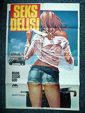 SEX CRAZY aka SEKS DELISI Original 1970s Turkish OS Movie Poster Sexy Artwork