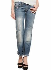 NWT DIESEL WOMEN JEANS Sz24X32 KYCUT DISTRESSED STRAIGHT JEANS WASH 0088D
