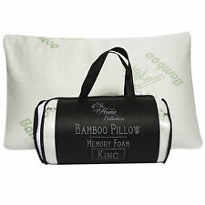Sweet Home Collection Hypoallergenic  Bamboo Memory Foam Pillow King w/Carry Bag