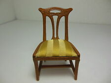 Dollhouse Miniatures Furniture 1/12: S9  13008wn Walnut Arts and Crafts Chair
