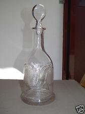 1850 BIEDERMEIER KARAFFE Flasche GRATZEN Schwarzthal? Abrissglas Steinelschliff