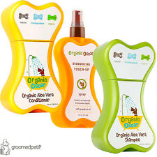 Organic oscar aloe vera chien shampooing, revitalisant, désodorisant touch-up spray set