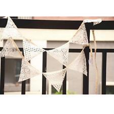 Retro Dreieck Design 10*STK Stoff Flaggen Spitze Fahnen Girlande Party Decor
