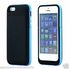 Black Blue Iphone 5 5s SE 2500 mAh power charger charging case battery iOs10