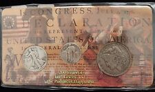 1891 Morgan Dollar, 1944 Walking Liberty Half Dollar, 1929 Standing Liberty 25c