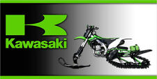 Kawasaki Timbersled Snow Bike Garage Trailer Vinyl  Banner Sign