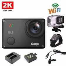 Gitup Git2 1080P WiFi 2K Sport Camera+Extra 1 Battery+Charger+Mic+Remote Control