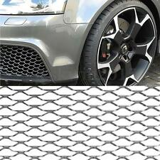 100 x 33cm Silver Universal Aluminum Grille Net Mesh Grill Section For Car Auto