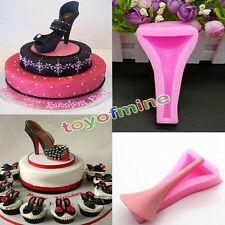 New Silicone Stilleto High Heel Lady Shoe Fondant Mould Cake Decorating Mold