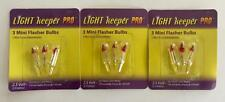 NEW Light Keeper Pro 3 Packs Mini Flasher Bulbs 2.5 Volts