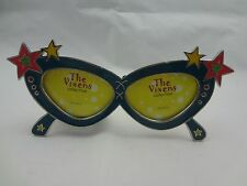 The Vixens Collection Picture Frame ~ Deep Blue Enamel Sunglasses w/ Pink Stars