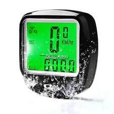 LCD Bike Computer Odometer Speedometer Velometer +Green Backlight Waterproof