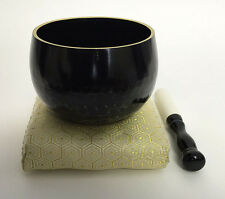 "Japanese Buddhist Singing Bowl Bell Set 6.75"" Gong Rin Butsudan Meditation Zen"