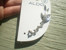 ALDO SILVER TONE SET of STUD BACK EARRINGS & an EAR CUFF