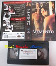 film VHS MEMENTO Guy Pearce Carrie Anne Moss HOME VIDEO 2000  (F61)  no dvd