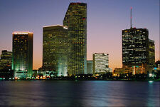 562022Miami Skyline A4 Photo Print