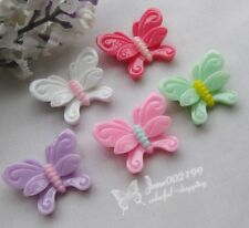 20pcs Butterfly Resin Flatback Buttons Scrapbooking DIY Appliques JOB036