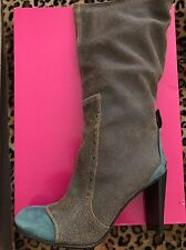 New Materia Prima By Gofferdo Fantini Distressed Leather Boots 41 Made In Italy