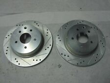 Pair of Disc Brakes Rotors  Sport Drilled/Slotted Disc Rear Left R1 Concepts