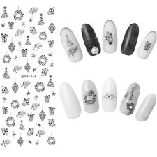 1 Sheet Christmas Nail Art Water Transfer Decal Snowflake Xmas Manicure Sticker