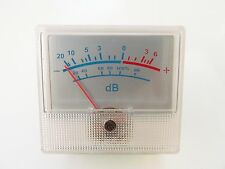 Silver VU Meter for Amplifiers, Mixers, Tape Recorders, rear cutout mount
