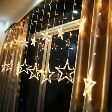 Fancy LED Star Curtain String Light for Wedding Christmas Room Decoration 8Modes